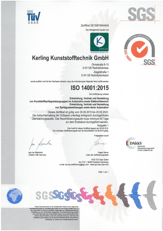 Zertifizierung nach DIN ISO 14001